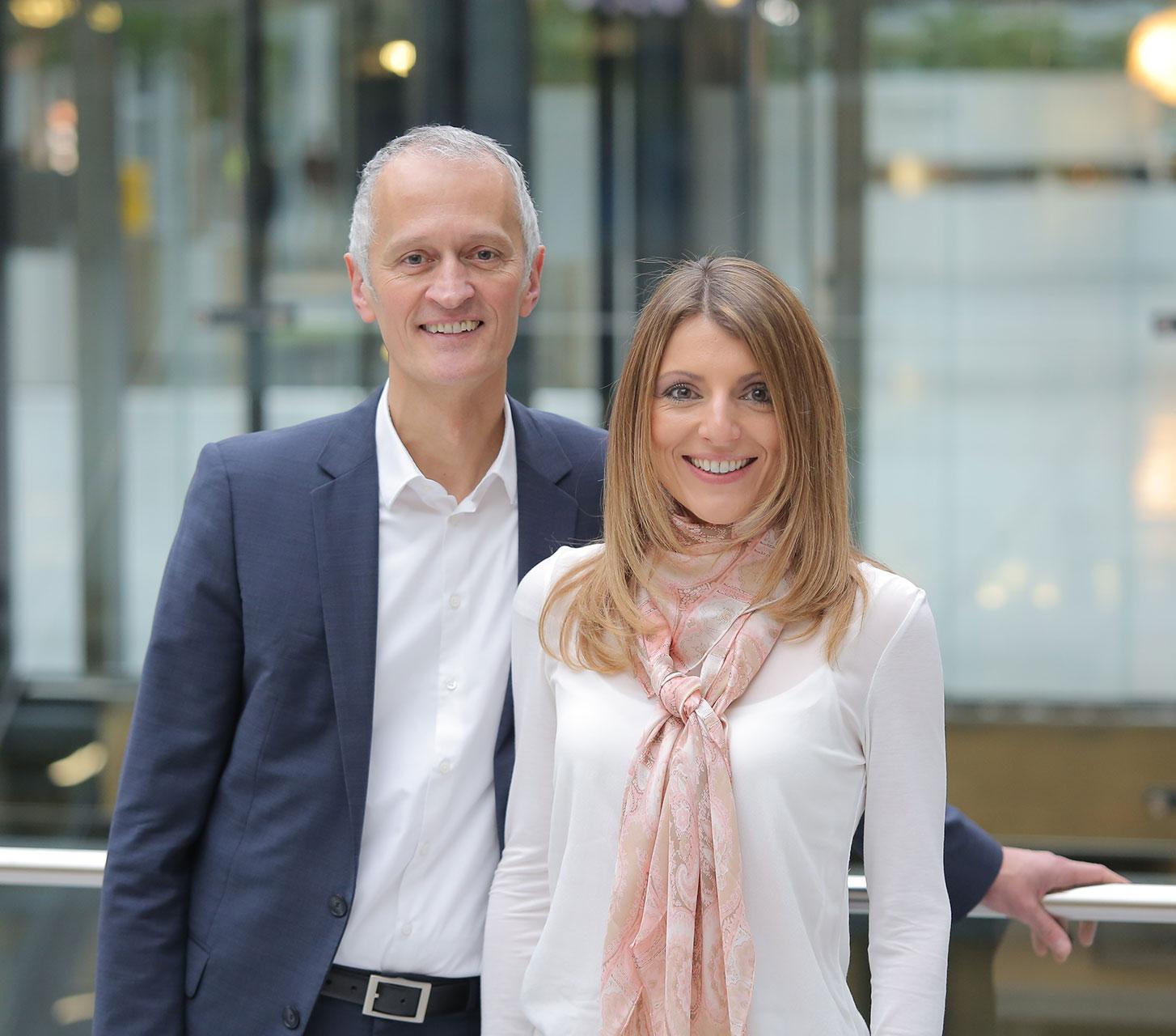 Doppelspitze: Gerald Banze und Melanie Vogelbacher  werden Geschäftsführer von Q division